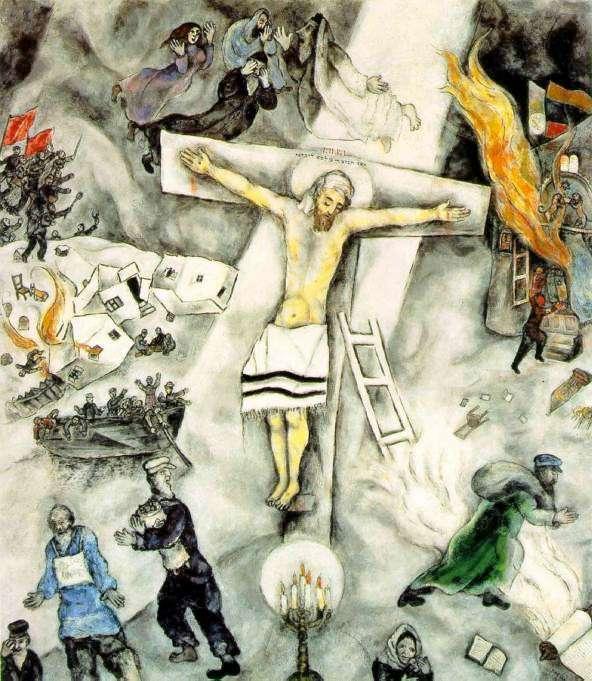 White Crucifixion | Nick Page Chagall White Crucifixion